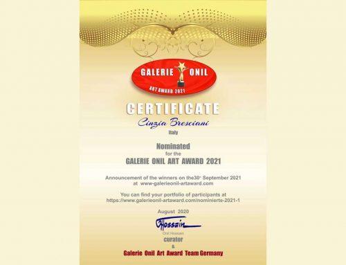 Gallerie Onil art award. Selezione per il premio 2021.